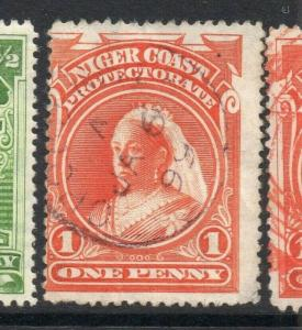 Niger Coast 1894-97 Early Issue Fine Used 1d. 303798