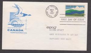 1324 Canada House of Farnam FDC with typewritten address