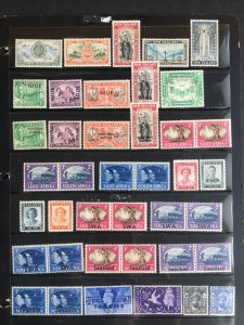 1946 British Commonwealth Omnibus Peace Atypicals, 21 countries, 80 stamps, MH
