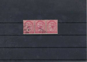 South Australia One Penny Used Stamps Block Ref: R5380