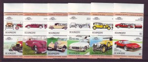 J24520 JLstamps 1983 st vincent specimen set pairs mnh #687-92 cars autos