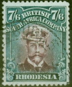 Rhodesia 1922 7s6d Brown Purple & Slate SG308 V.F.U
