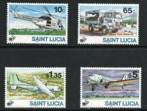 St. Lucia  (1995)  - Scott # 1023 - 1026,   MNH