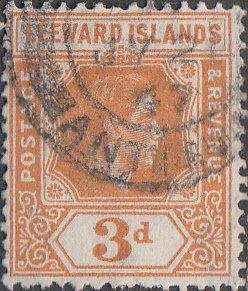 Leeward Isslands #109 Used