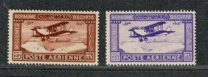 Egypt Sc#c1+c2 M/NH/VF, Cv. $42.50