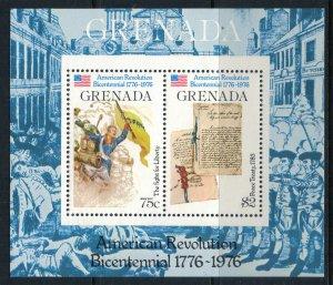Grenada #723* NH  CV $2.00  US Bicentennial Souvenir sheet