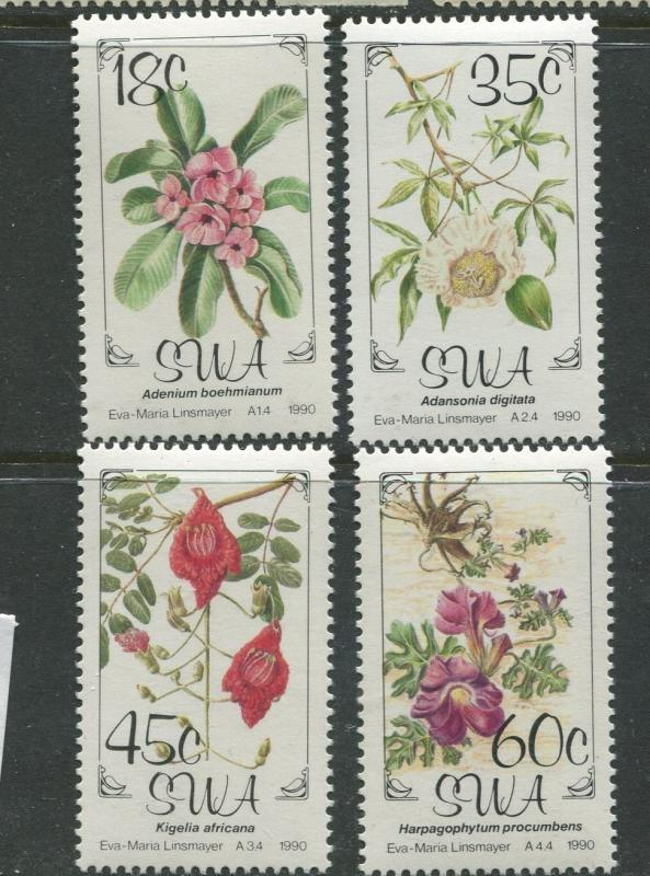 South West Africa - Scott 641-644 - Flowers Issue -19907 - MNH- Set of 4 Stamps