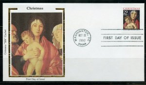 UNITED STATES  COLORANO  1992 CHRISTMAS SET OF TWO  FIRST DAY  COVERS