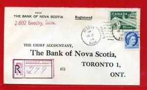 1960 BEECHY  Saskatchewan  Registered  Canada cover