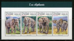 GUINEA  2018 ELEPHANTS SHEET MINT NH