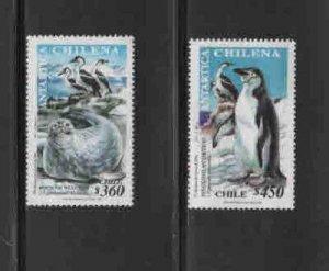 CHILE #1283-1284  1999  CHILEAN ANTARCTICA      MINT VF NH  O.G