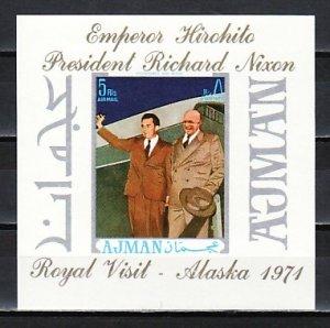 Ajman, Mi cat. 981, BL295. President Nixon & Emperor of Japan s/sheet. ^