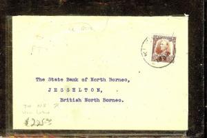 SARAWAK (P1106B) 1932 5C RATE TO BORNEO, VIA LABUAN B/S