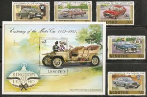 Lesotho 475-80 1985 Cars set and s.s. MNH