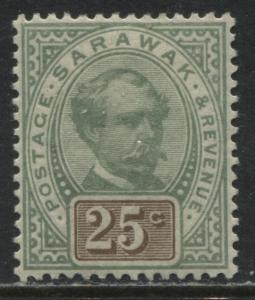 Sarawak 1888 25 cents mint o.g.