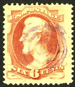U.S. #186 USED BLUE CANCEL