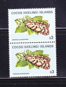 Cocos Islands 102 Pair MNH Insects, Moths (D)