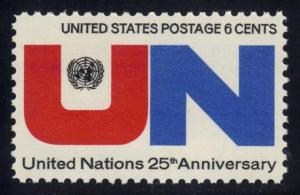 US #1419 United Nations 25th Anniversary; MNH (0.25)
