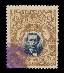 GUATEMALA STAMP 1910 SCOTT # 140. USED.