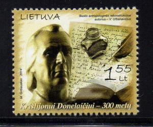 Lithuania Sc 1015 2014 Donelaitis stamp mint NH
