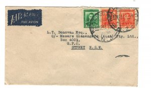 New Zealand 1947 Commercial Cover to Australia