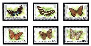 Cayman Is 386 91 MNH 1977 Butterflies