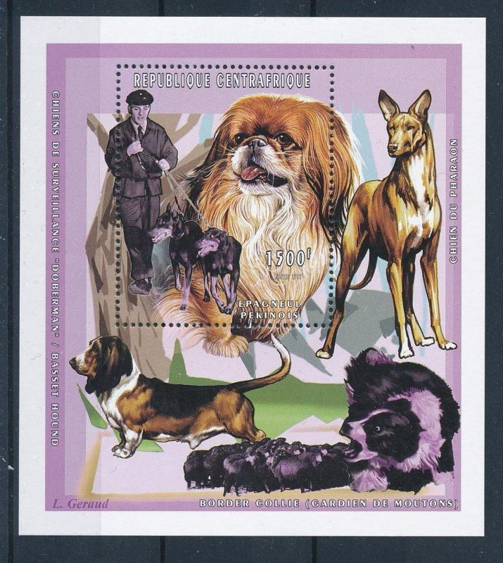 [26943] Central African Republic 1998 Animals Dogs Pekinese MNH Sheet