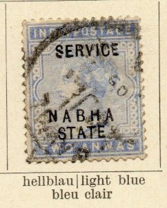 Nabha 1885-89 Early Issue Fine Used 2a. Optd 322537