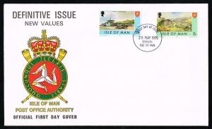 Isle of Man #53-54 New Definitives Official FDC