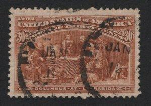 United States USED Scott Number 239  F-VF  #V1  - BARNEYS
