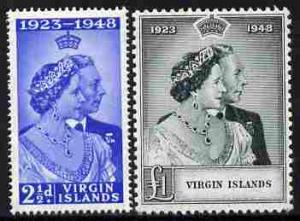 British Virgin Islands 1949 KG6 Royal Silver Wedding perf...
