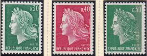 (SA) France Scott #1230-31C MNH Complete Set of 3