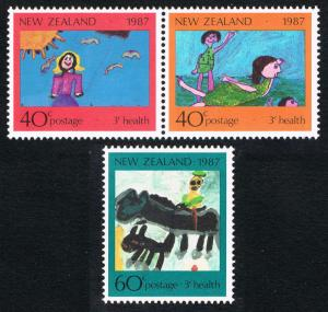 New Zealand MH B127-9 Children's Drawings 1987