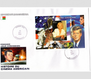 Kennedy & Marilyn Monroe Space s/s Imperforated in official FDC