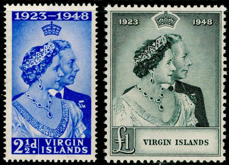 BRITISH VIRGIN ISLANDS SG124-125, COMPLETE SET, NH MINT. Cat £16. RSW.