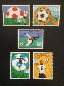 Ivory Coast 466-470 F-VF MH. Scott $ 7.05
