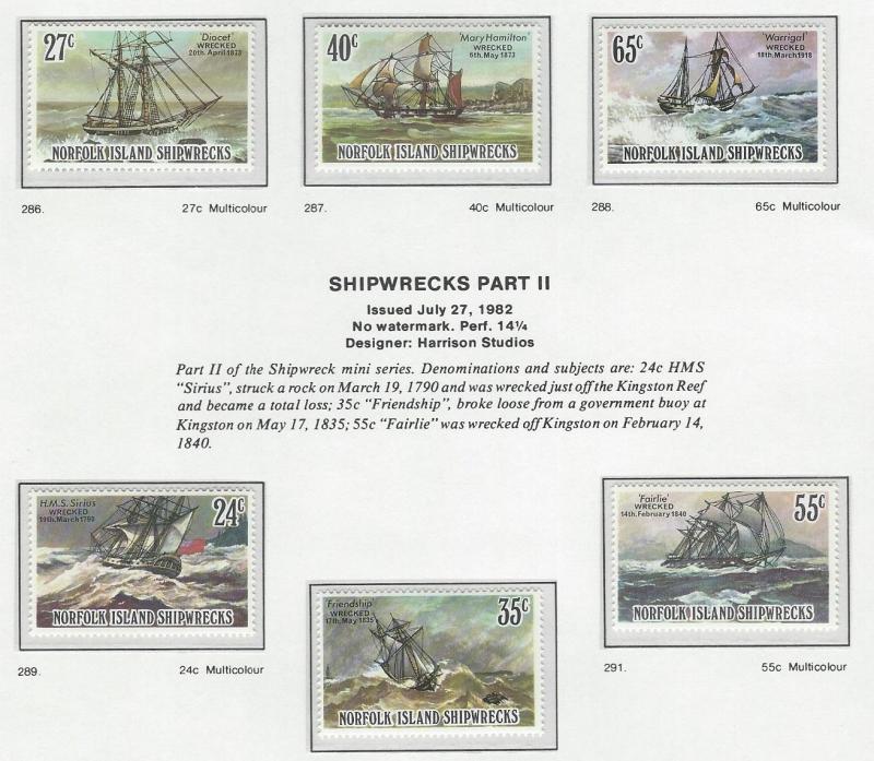 Norfolk Island    MNH  SC 293 - 298
