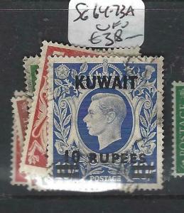 KUWAIT   (P2804B) ON   GB  KGVI  SET TO 10R  SG 64-73A   VFU