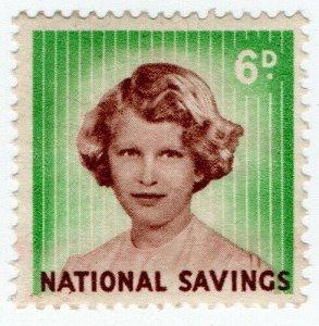 (I.B) National Savings : Princess Anne 6d (1960)