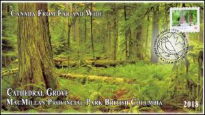 CA18-012, 2018, From Far and  Wide, Cathedral Grove, Day of Issue, FDC,