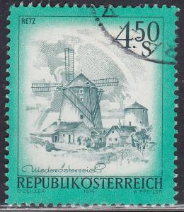 Austria 965 USED 1975 Windmill, Retz
