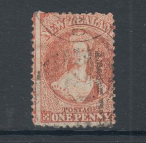 New Zealand Sc 31, SG 111, used. 1864-71 1p vermilion, usual centering, Cert