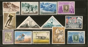 San Marino Collection of 13 Different Old Stamps Mint Hinged