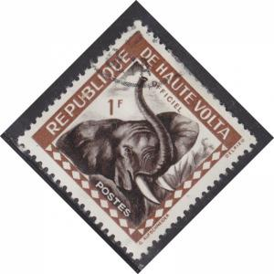 Burkina Faso O1 Elephant 1963