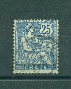 France Offices-Crete sc# 9 used cat value $4.25