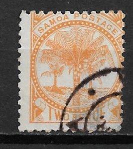1897 Samoa 13g Palms 2p used