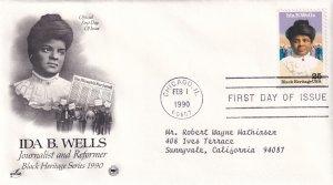 1990, Honoring Ida B. Wells, Art Craft/PCS, FDC (E12212)