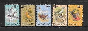 BIRDS - BARBADOS #701-5  CAPEX '87  MNH