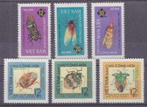 Viet Nam Dem Rep Sc 360-365 NGAI. 1965 Insects cplt F-VF