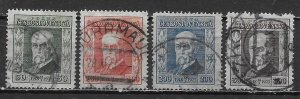 Czechoslovakia B133-36 Masaryk set Used (z3)